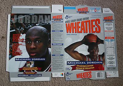 1993 Wheaties(Canadian) MICHAEL JORDAN Silver Cereal Box - UNUSED/FLAT   (0049)