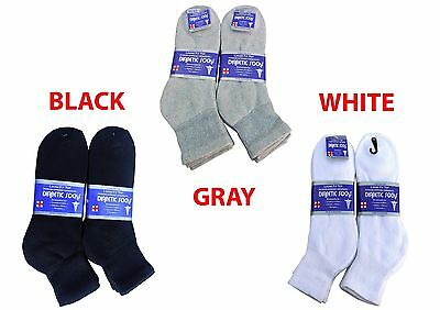 Diabetic ANKLE Socks Health Men's & Women's Cotton ALL SIZ
