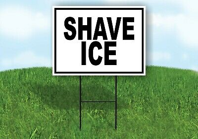 Shave Ice Black Border Yard Sign Road With Stand Lawn Sign