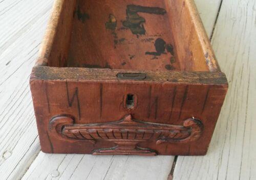 Large Antique Vintage Vintage Wood Wooden Sewing Cabinet Desk Drawer