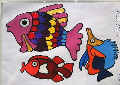 Window Color Fensterbilder 3  Fische Nr.12
