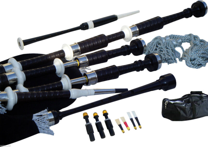 Great Highland Bagpipes Made of African Blackwood