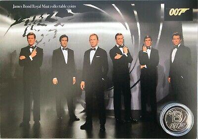 New James Bond royal mint A-Z 10p coin display.