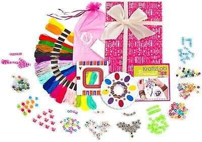 KRAFTZLAB Friendship Bracelet Making Kit - Jewelry Maker Bracelet Kit for Girls](Friendship Bracelet Maker)