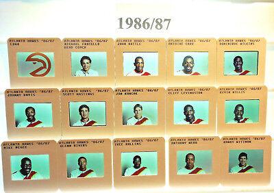 1985-95 NBA TV card / slide tm sets Atlanta Hawks U PICK Wilkins Spud DocTree ()