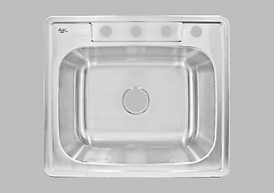 Bowl Top Mount Kitchen Sink (LessCare Top Mount Kitchen Sink Single Bowl LT84 NEW)