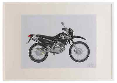 Yamaha XTZ125 2002 A3 framed limited edition print drawing for sale  Shipping to South Africa