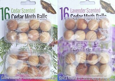 16x Cedar Wood Moth Balls Natural Repellent Damp Musty Clothes Wardrobe Drawer