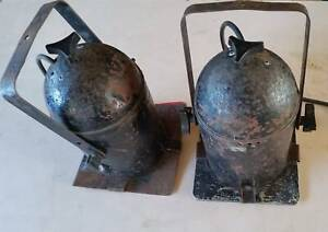 2x Vintage Can Lights Theatre Stage Spotlights Lamp Merrylands Parramatta Area Preview