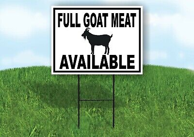 Full Goat Meat Available Black Border Yard Sign Road With Stand Lawn Sign