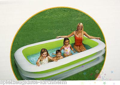 Intex Swimming Pool Planschbecken Schwimmbecken 262x175x56cm Family Pool Grün