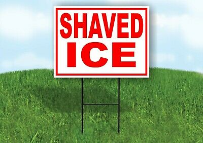 Shaved Ice Red White Yard Sign Road With Stand Lawn Sign