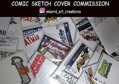 BLANK VARIANT SKETCH COVER ORIGINAL ART COMMISSION
