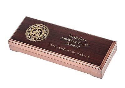 Gebraucht, Lunar Serie II Type-Set Münz box /Etui/ 1/20, 1/10 Oz, 1/4 Oz, 1/2 Oz, 1 Oz Gold gebraucht kaufen  Theilheim