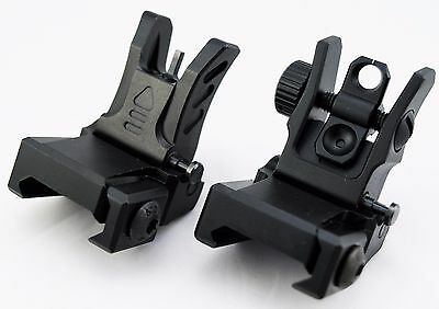 UTG Low Profile Flip-up BUIS Sight Set Folding Iron Sights Weaver Rail Mount