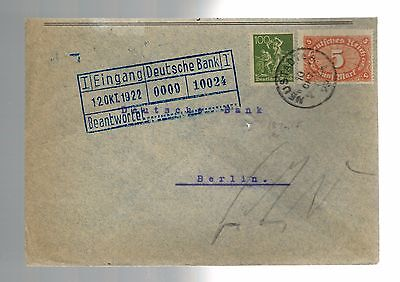 1922 Neustadt Germany Versicherungskammer Deutsche Bank Cover