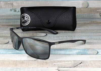 RAY BAN RB4179 601S82 Liteforce Matte Black Grey Mirr Polarized 62 mm Sunglasses