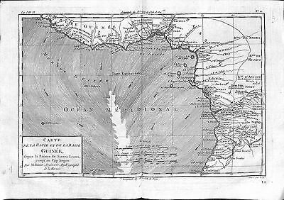 Antique maps, Carte de la haute et de la basse Guinee