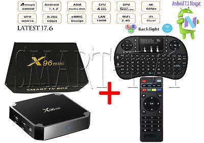 X96 Mini S905w Quad Core 4K Smart Tv Box 1Gb 8Gb Android 7 1 Latest   Keyboard