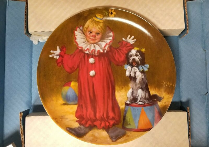 Tommy The Clown Limited Edt. Collectors Plate John McClelland 1982 #15850K COA