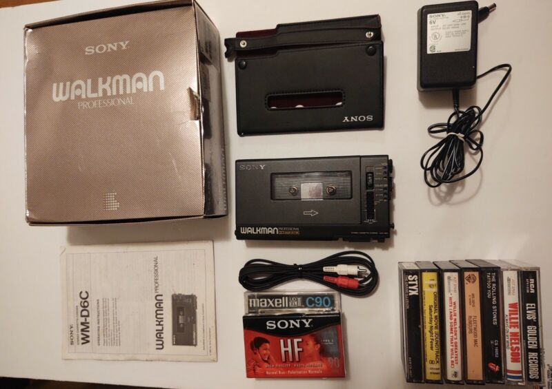SONY WM-D6C Walkman Professional Cassette Player Recorder - Great Cond
