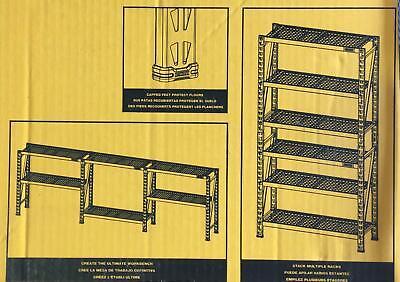 Yellow 3-tier Wire Steel Garage Storage Shelving Unit 50 In. W X 48 In. H X18d