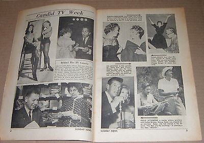 1961 TV GUIDE~RICHARD BOONE~DAVE BRANDT PIN BUSTERS BOWLING~CAROL COOKE