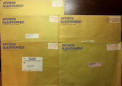 - SPORTS ILLUSTRATED OUTER MAILER ENVELOPE LOT FOR YEARS 1958 1959 1960 5 IN TOTAL