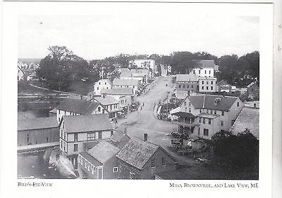 "*Postcard-""Bird's Eye View""-Milo Business- /Milo, Brownville/Lake View/ME (#155)"