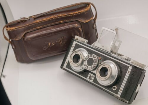 Iloca Stereo 35mm Film Camera - Jlitar V 35mm F3.5 Lenses, Sport Finder, & Case