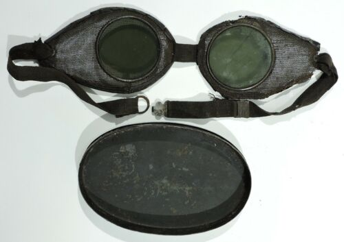 Early Safety Goggles & Metal Case 1860 - 1890