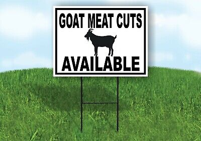 Goat Meat Cuts Available Black Border Yard Sign Road With Stand Lawn Sign
