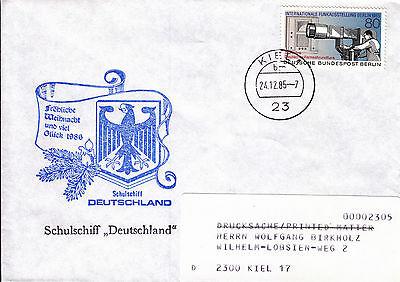 Schiffspost Schulschiff Deutschland Weihnachten 1985