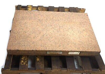 "Starrett G-80656 AA Grade 36"" x 24"" x 6"" Surface Plate Crystal Pink 2 Ledges"