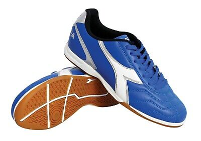 Diadora Men's Capitano ID Indoor Soccer Shoes (Royal) Diadora Indoor Soccer