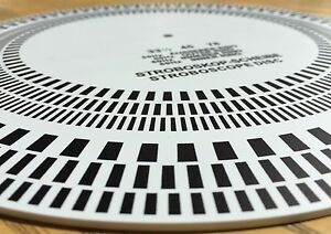 Turntable Strobe Disc Stroboscope mat   Made in USA   Tests 33-1/3 rpm, 45 rpm