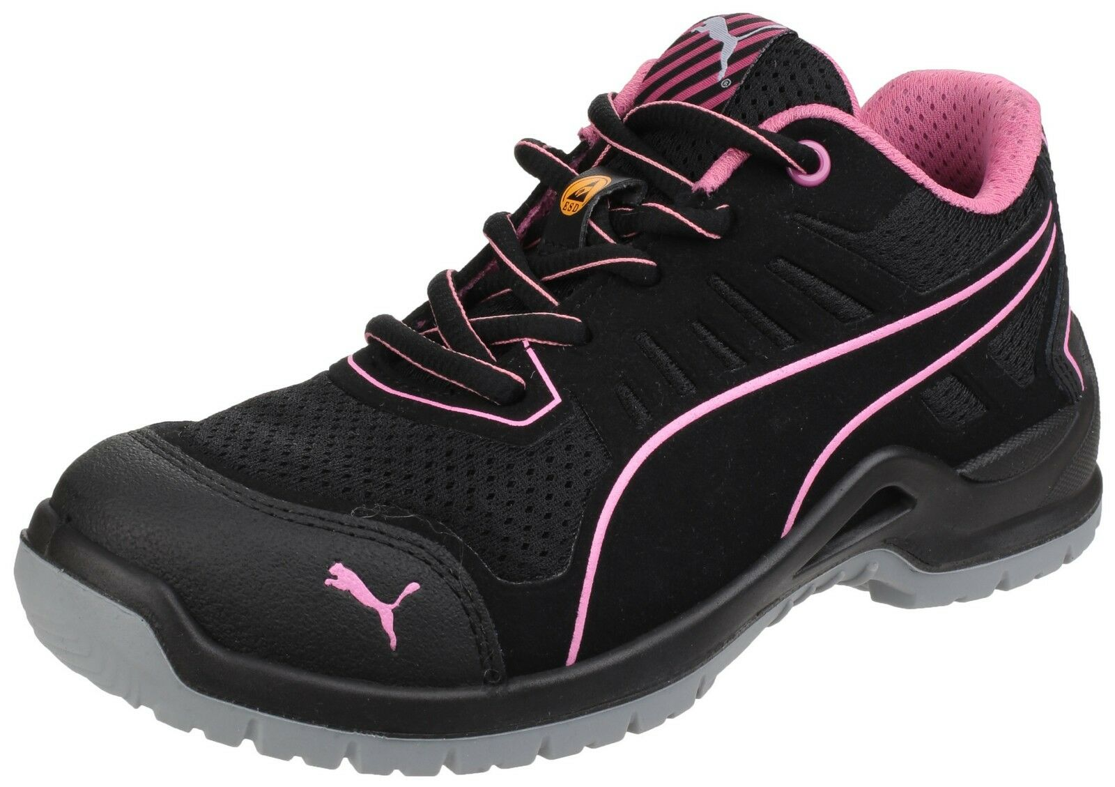 Details about Puma Fuse TC Pink Low Safety Womens Industrial Work Trainers Shoes UK3 8