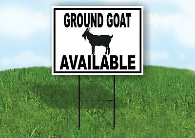 Ground Goat Available Black Border Yard Sign Road With Stand Lawn Sign