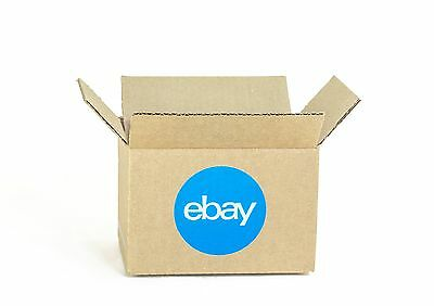 """eBay-Branded Boxes With Blue 2-Color Logo 6"""" x 4"""" x 4"""""""