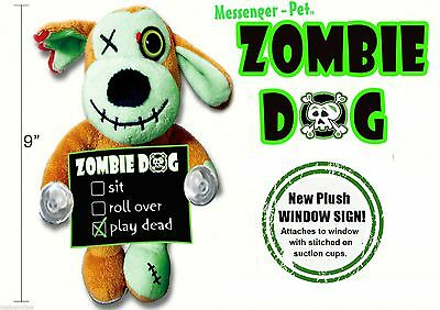 Zombie Dog Halloween fun Window Decoration for Dog Lovers Great Gift