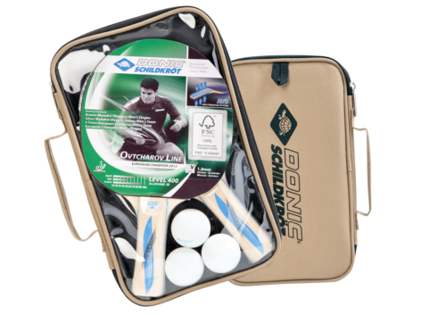 Donic-Schildkröt Tischtennis Set Series 400 im Carrybag 2 Schläger, 3 Bälle