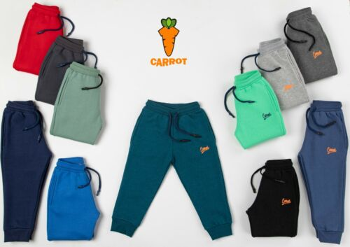 US Carrot Baby Kids Boys Fleece Sweatpants Jogger Pant Athletic Size 2 to 16