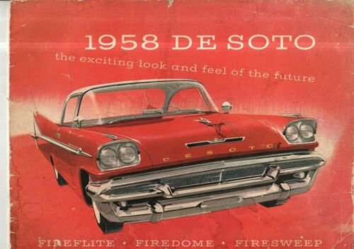 "1958 DeSoto Prestige Sales Catalog 10X14"""