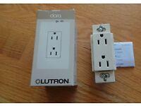 Claro 15A Duplex Electrical Socket Receptacle Lutron CAR-15-BR Brown Gloss