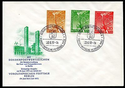 Berlin MiNr. 88-90 Ersttagsbrief/ FDC (Q9689