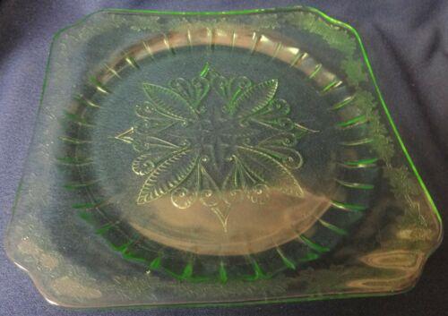 "Adam Green Dinner Plate 9"" Jeannette Glass Company"