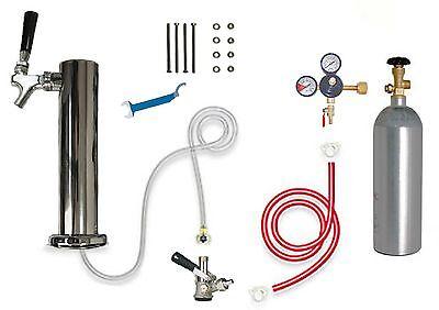 Refridgerator Kegerator Beer Tower Single Beer Faucet Tap Handle Coupler
