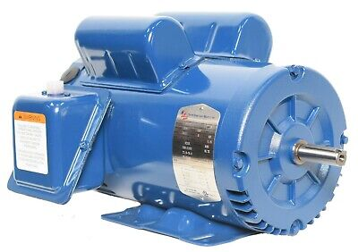Compressor Duty Electric Motor 5hp 3600rpm 56hz Frame 230v 1phase Odp 78 Shaft