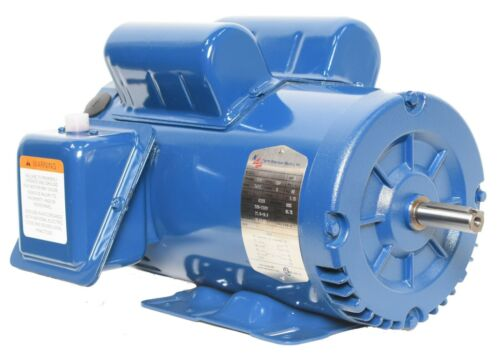 "Compressor Duty Motor 5HP 3600 RPM 56H Frame 60Hz 1 Phase ODP 5/8"" Shaft"