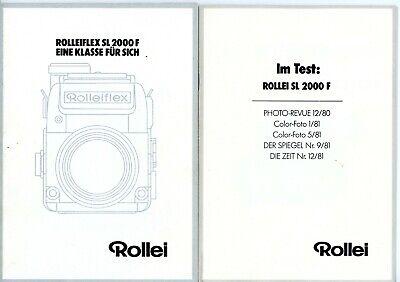 ROLLEI Prospekt ROLLEIFLEX SL 2000F Kamera Broschüre Planar Distagon (Y2745
